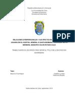 Relaciones Interpersonales y Sus Efectos en La Atención Del Usuario-tesis
