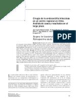 Cirugía de la endocarditis infecciosa en un centro regional en Chile. Análisis de casos y resultados en el largo plazo