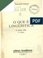 O Que é Linguistica