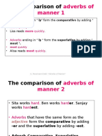 The Comparison of Adverbs of Manner 1