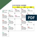 Programación Capacitacion Siseco - Noviembre