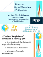 Policies on Human Rights Education