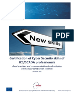 Certification Schemes at European Level for Cyber Security Skills of ICS SCADA