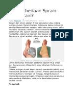Apa Perbedaan Sprain Dan Strain