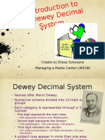 an intro to dewey decimal