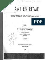Van Der Horst, Maat en Ritme II