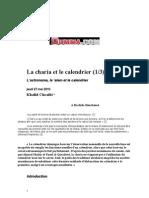Khalid Chraibi - La Charia Et Le Calendrier Oumma.com