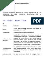 Glosario de Terminos de Sensores en circuitos electricos