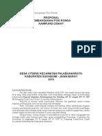 Contoh Proposal Pembangunan Pos Ronda
