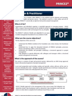 PRINCE2 Foundation + Practitioner Outline