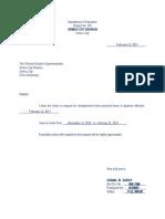 Letter Reinstatement
