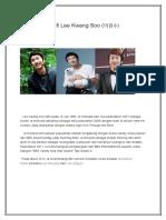Biografi Lee Kwang Soo