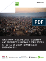 What Practices Are Used to Identify and Prioritize Vulnerable Populations Affected by Urban Humanitarian Emergencies?