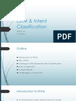 Pre LSTM Intent Classification