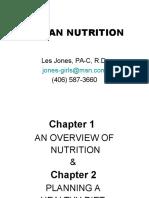 Planning a Healthy Diet - 1 & 2