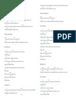 Lyrics of Various Songs