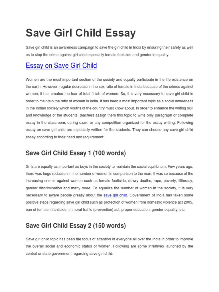 essay on save