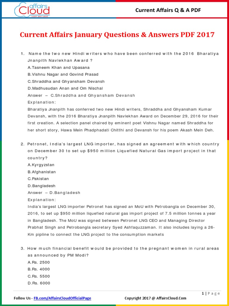 Current Affairs 2016 Pdf In Hindi With Answers