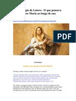 A Mariologia de Lutero