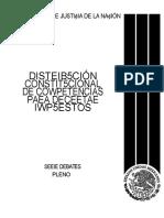 Distrribucion Constitucional de Competencias Para Decretar Impuestos