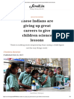 These Indians Are Giving Up Great Careers to Give Children Science Lessons