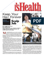 Men's Health Magazine - Hair Transplant - Dr. Alan Bauman