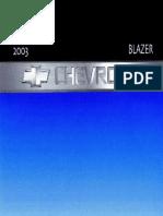2003 Chevrolet Blazer Owners Manual