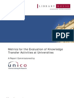 Library House - Metrics for the Evaluation of Knowledge Transfer Activities