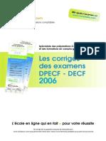 Sujet Corrige Dpecf Uv4 2006