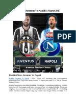 Prediksi Juventus vs Napoli 1 Maret 2017