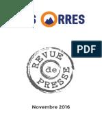 novembre 2016 // Revue de Presse