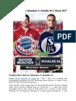 Prediksi Bayern Munchen vs Schalke 04 2 Maret 2017
