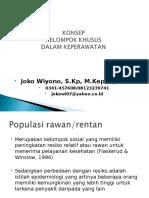Konsep Kelompok Khusus Rentan(Rawan)-Komunitas Oktober 2013