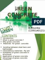 Green Concrete Seminar Ppt