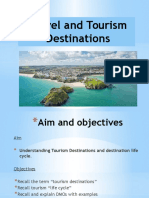 travel and tourism destinations lifecycle