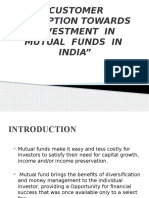 Customer Perception Towards Investment in Mutual Funds Presentation Nitin