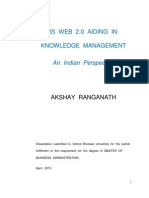 Dissertation - Is Web 2.0 aiding in Knowledge Management