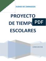 Proyecto Tiempos Escolares CEIP Ciudad de Zaragoza 2017/18