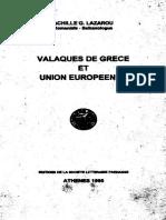 Valaques de Grece et Union Europeene