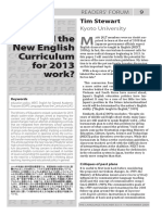 Will the new curriculum work?
