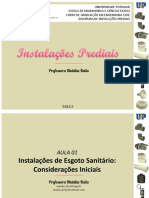 IP - AULA 01 - Instalações de Esgoto Sanitário