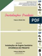 IP - AULA 02 - Instalações de Esgoto Sanitário