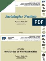 IP - AULA 02 - Introdução as Instalações Hidrossanitárias