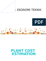 3. Plant Cost Estimation