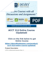 DeVry ACCT 312 Entire Course (Updated)