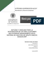 Iñesta - Estudio y Análisis Para La Integración de Un Crm (Customer Relationship Management) en e...