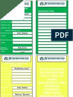 Tarjetas de Andamios