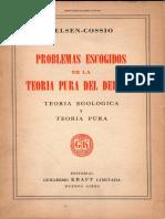 1952. Kelsen Cossio Problemas Escogidos de La Teoria Pura
