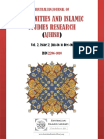 Australian Journal of Humanities and Islamic Studies Research - Vol 2, Issue 2 - 2016