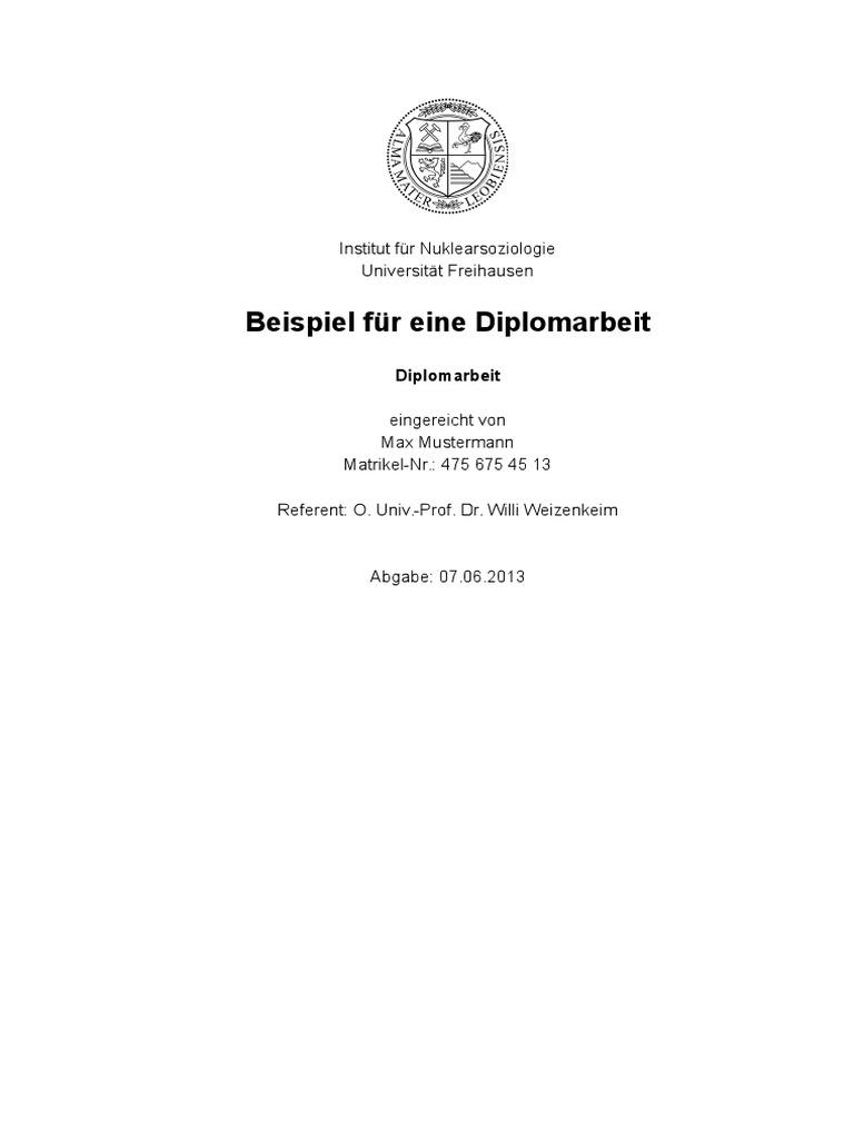 Beispiel Diplomarbeit